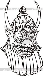 Mongolischer Gott Erlik - Vektorgrafik