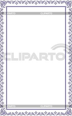 Ornamentaler Rahmen | Stock Vektorgrafik |ID 2018270