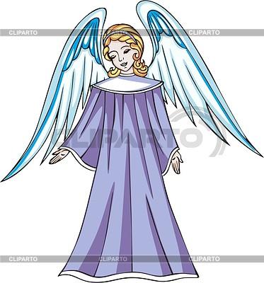 Young angel girl | Klipart wektorowy |ID 2025386