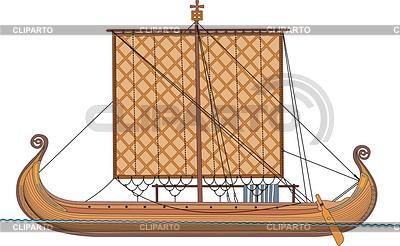 Viking ship | Klipart wektorowy |ID 2008656