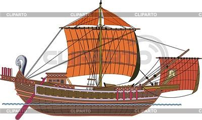 Römisch Frachtschiff | Stock Vektorgrafik |ID 2008658
