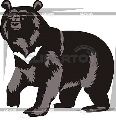 медведь векторный рисунок
