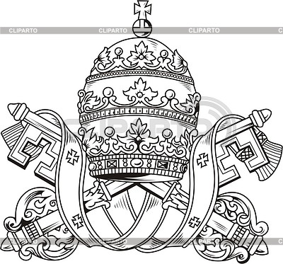 Pope's mitre | Klipart wektorowy |ID 2004661