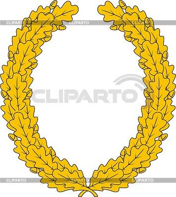 Oak wreath | Klipart wektorowy |ID 2012570