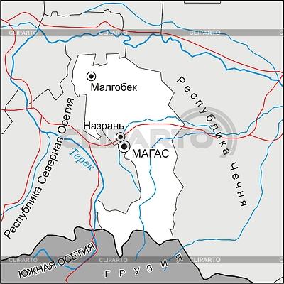 Karte von Inguschetien | Stock Vektorgrafik |ID 2005871