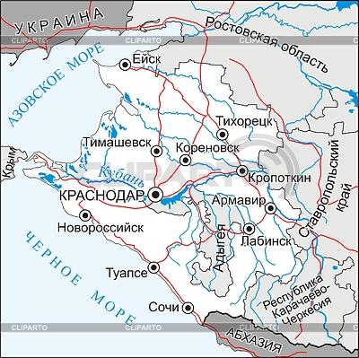 Krasnodar krai map | 벡터 클립 아트 |ID 2005866