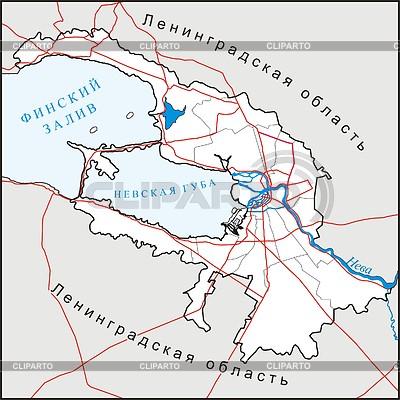 St. Petersburg map | Klipart wektorowy |ID 2007093