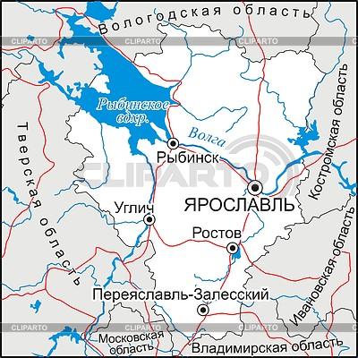 Карта Ярославской области | Векторный клипарт |ID 2005852