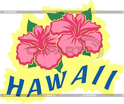 Hawaiian flowers | 벡터 클립 아트 |ID 2011392