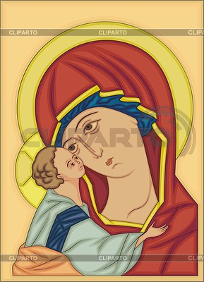 Orthodox icon with Madonna | 向量插图 |ID 2013566