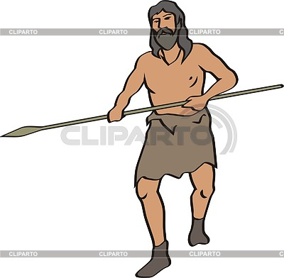 Prehistoric man | Klipart wektorowy |ID 2011410