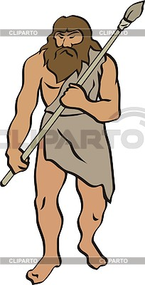 Prehistoric man | Klipart wektorowy |ID 2011411