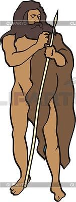 Prehistoric man | Klipart wektorowy |ID 2011412