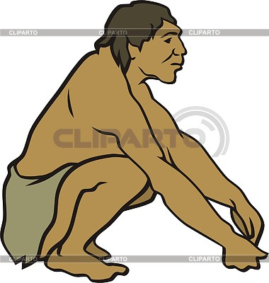 Prehistoric man | Klipart wektorowy |ID 2011413