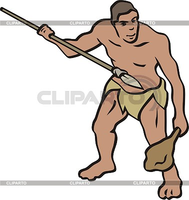 Prehistoric man | Klipart wektorowy |ID 2011414