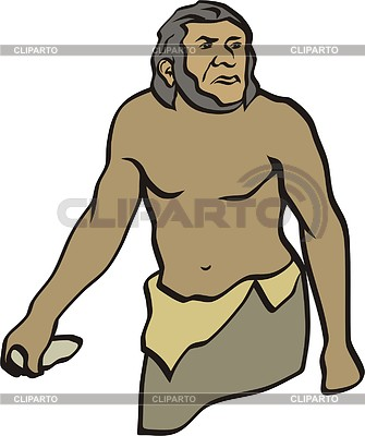 Prehistoric man | Klipart wektorowy |ID 2011415