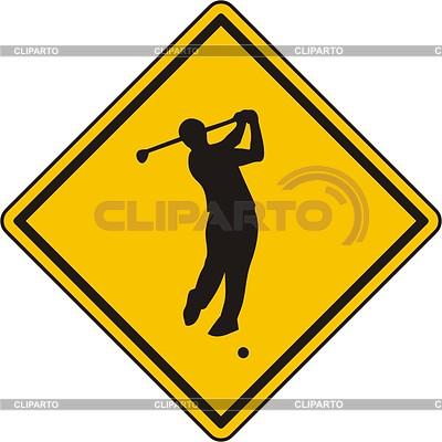 Golf sign | Klipart wektorowy |ID 2015049