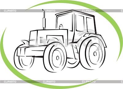 Tractor | Klipart wektorowy |ID 2016090