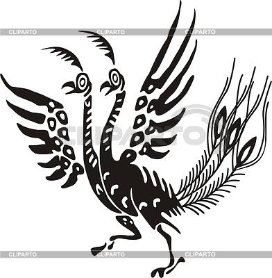 Chinese mythic bird | Klipart wektorowy |ID 2008686