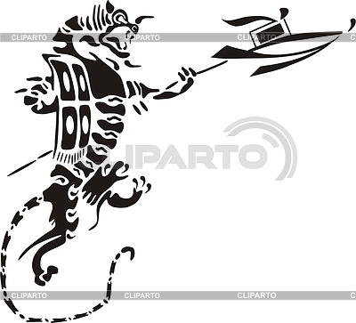 Tiger lance-bearer | Klipart wektorowy |ID 2008700