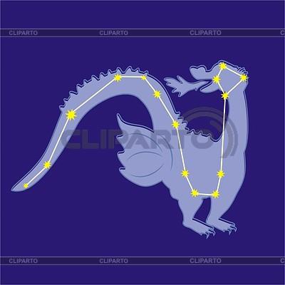 Constellation Draco | Klipart wektorowy |ID 2011716