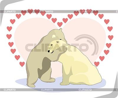 Eisbären in der Liebe | Stock Vektorgrafik |ID 2009463