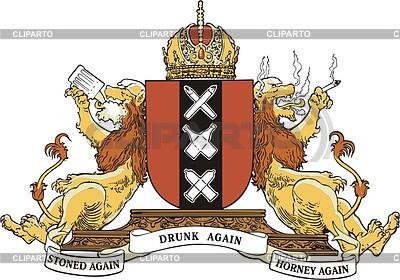 Alternative coat of arms of Amsterdam | Klipart wektorowy |ID 2011029