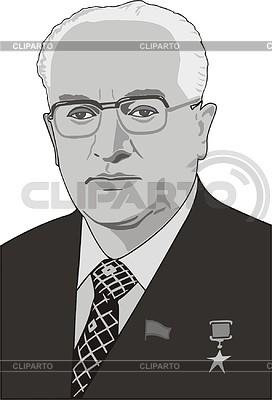 Юрий Андропов | Векторный клипарт |ID 2008494