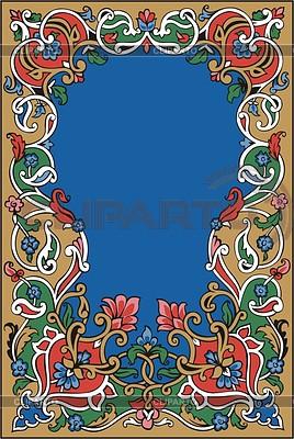 Floral frame | Klipart wektorowy |ID 2010728