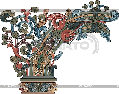 Dekorative mittelalterliche Ecke | Stock Vektorgrafik |ID 2013364