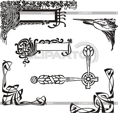 Art nouveau corners | Stock Vector Graphics |ID 2026350