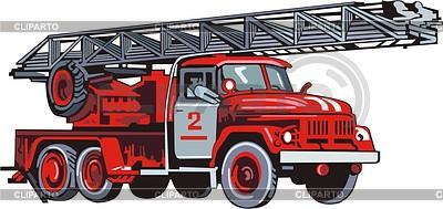Fire engine | Klipart wektorowy |ID 2010758