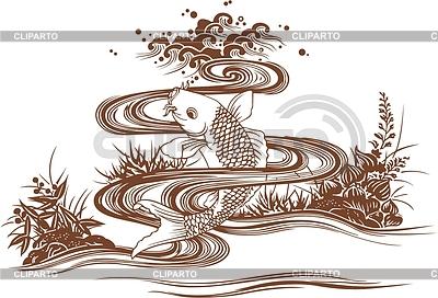 Japanische Karpfen | Stock Vektorgrafik |ID 2005430