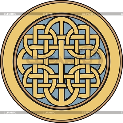 Medieval Celtic ornamental knot | 向量插图 |ID 2013536