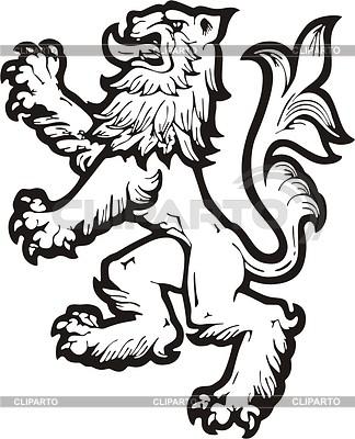 Heraldic lion | Klipart wektorowy |ID 2010653