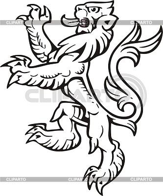 Геральдический лев | Векторный клипарт |ID 2010649