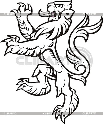 Heraldic lion | Klipart wektorowy |ID 2010649