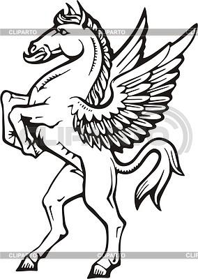 Geflügeltes Pferd | Stock Vektorgrafik |ID 2010696