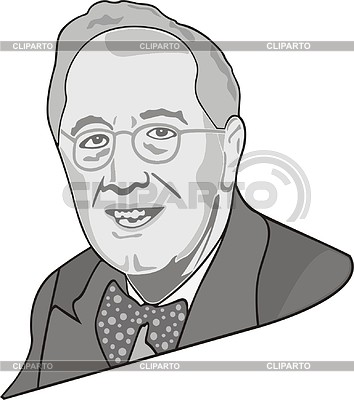 Franklin Roosevelt | Klipart wektorowy |ID 2008353