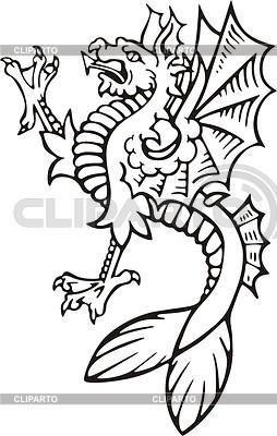 Sea gryphon | Klipart wektorowy |ID 2010675