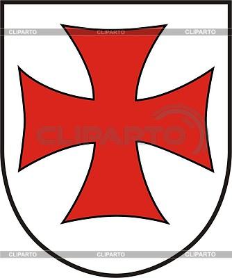 Shield with cross | Klipart wektorowy |ID 2010595