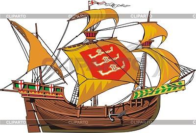Mittelalterliches Frachtschiff | Stock Vektorgrafik |ID 2008409