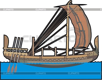 Altägyptische Frachtschiff | Stock Vektorgrafik |ID 2008780