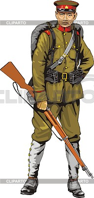 Chinesischer Soldat | Stock Vektorgrafik |ID 2008054
