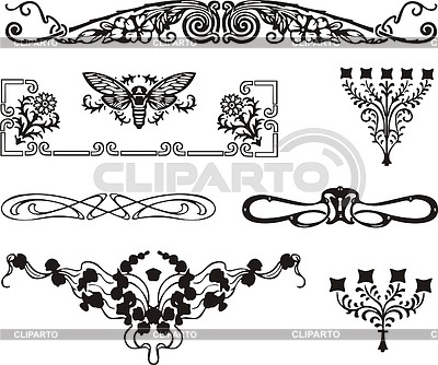 Art nouveau border printable pdf download
