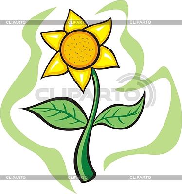 Yellow flower | Klipart wektorowy |ID 2001815