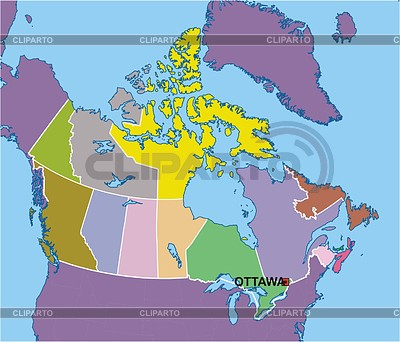 Karte von Kanada | Stock Vektorgrafik |ID 2006368