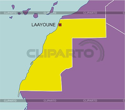 Karte von Westsahara | Stock Vektorgrafik |ID 2006431