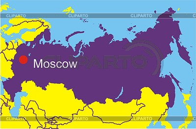 Karte von Russland | Stock Vektorgrafik |ID 2005916