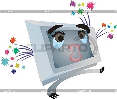 Lustiger Fernseher | Stock Vektorgrafik |ID 2006682